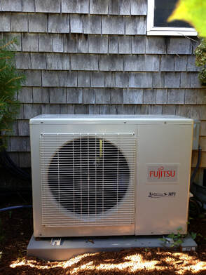Ivy's Heating & Cooling  Fujitsu mini-split and condenser installation